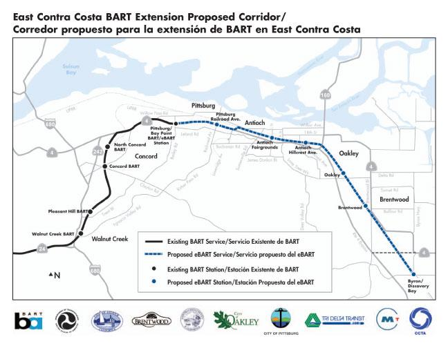 MTC Approves $19M for eBART from Pittsburg to Antioch (San Jose ...