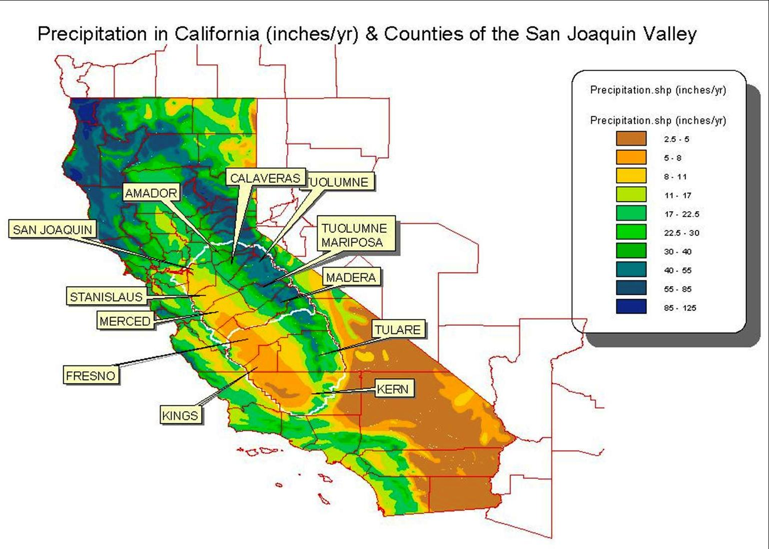 California Water Rights In The Beginning Romick In Oakley - San jose water supply map